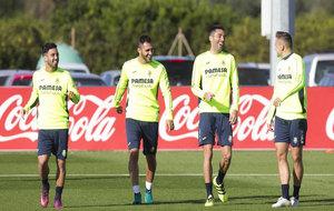 Entrenamiento matinal del Villarreal para preparar el partido frente...