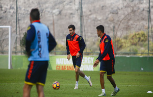 Hélder Lopes durante una sesión de entrenamiento.