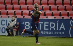 Ferreiro celebra un gol ante el Oviedo.
