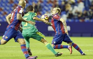Roger, durante el partido ante el Cádiz.