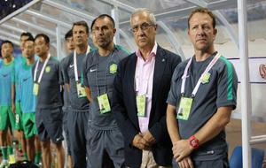Jose Gonzalez, en un partido como asistente de Gregorio Manzano en el...