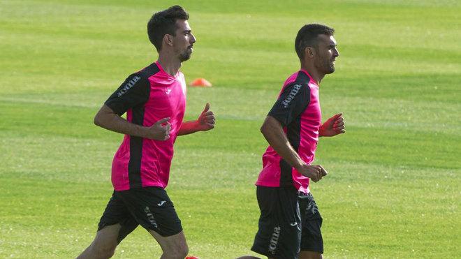 Barral y Cuenca, durante un entrenamiento