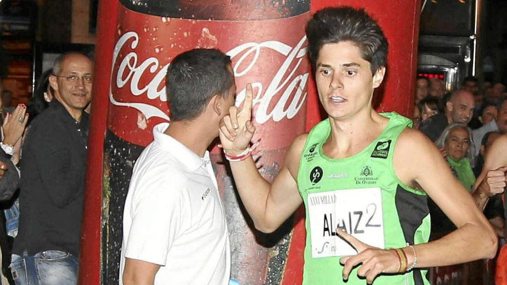 Roberto Alaiz, durante una carrera.