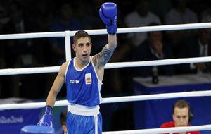 Samuel Carmona, tras vencer a Artur Hovhannisyan, en Río 2016.