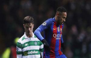 Neymar, en una acción contra el Celtic de Glasgow.