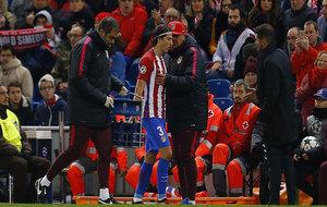 Filipe se marcha lesionado.