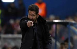 Cholo Simeone durante el partido ante el PSV.