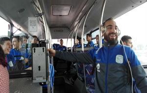 Los jugadores del Movistar Inter, de camino a su partido contra el...