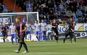 Los jugadores del Almería celebran un gol en su última victoria en...