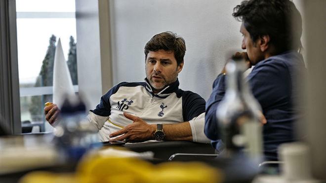 Pochettino, durante la entrevista realizada en su despacho.