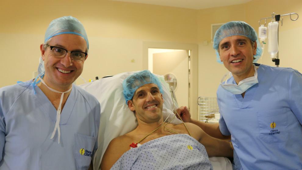 Díaz, con los doctores Leyes y Martín