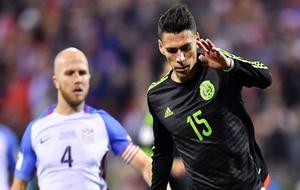 Héctor Moreno, en un partido de la selección mexicana contra Estados...