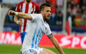 Camacho durante el encuentro ante el Atlético de Madrid
