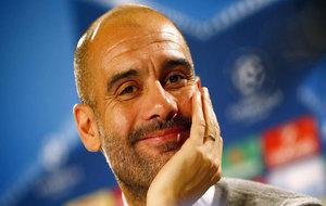 Pep Guardiola, durante una rueda de prensa como técnico del City