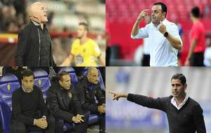 Luis César Sampedro, José María Salmerón, Raúl Agné y Fernando...