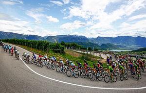El pelotón durante una de las etapas del Giro de Italia de este año.