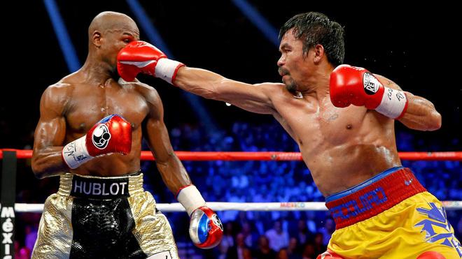 Pacquiao lanza un derechazo a Mayweather