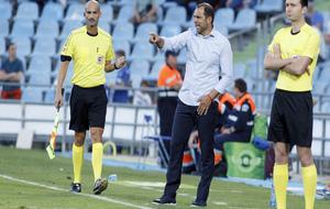 Esnáider dirige a sus jugadores durante su etapa en Getafe.