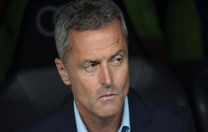 Escribá, en un partido del Villarreal.