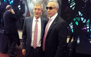 Fernando Carpena (i) con el presidente del COE, Alejandro Blanco.