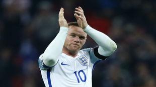 Rooney durante el el último partido con la selección inglesa.