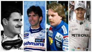 Los Hill, Graham y Damon, y los Rosberg, Keke y Nico