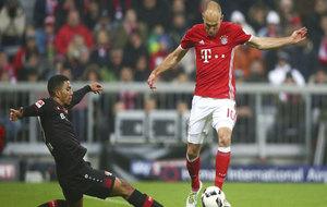 Arjen Robben, en un partido con el Bayern.