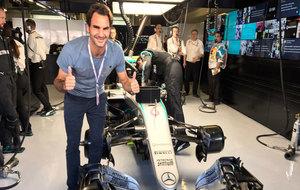 Roger Federer en el Gran Premio de Abu Dabi