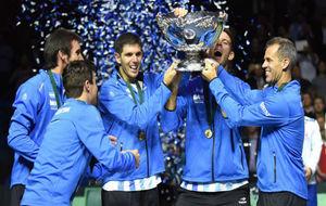 El equipo argentino, con la Ensaladera