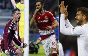 Llorente, Negredo y Falque lideran a los españoles este fin de semana