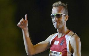 Sergio Sánchez, durante los Campeonatos de España de 2013, en los...
