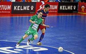Marc Tolrá en un partido contra el Navarra.