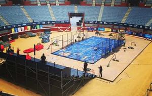 Obras de acondicionamiento del Donostia Arena.