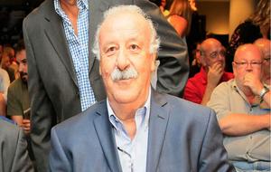 Vicente Del Bosque durante la presentación del Torneo ARC Broker