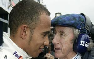 Hamilton y Stewart, en 2007.