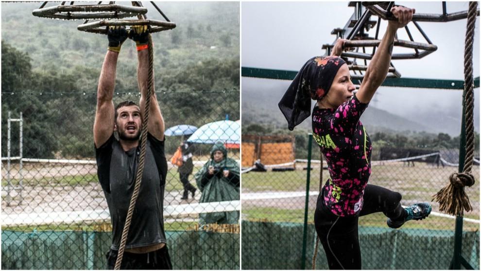 Andrés Fontenla y Lorena González, en acción.