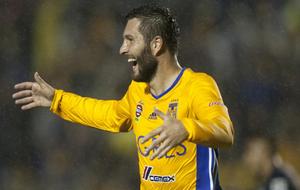 Gignac celebra un gol en Monterrey.