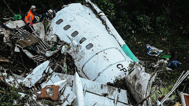 El accidente del Chapecoense.