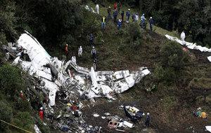 Imagen del siniestro del avión.