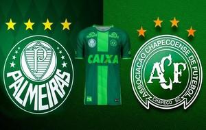 Montaje de lo que podría ser la camiseta del Palmeiras en el homenaje...