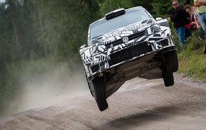 La segunda generación del Polo WRC, el pasado verano, durante un test