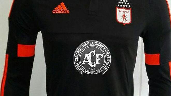 663472c7075ab El América de Cali ya tiene su camiseta en homenaje al Chapecoense ...