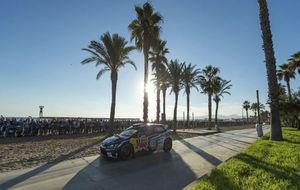 Ogier, en el Rally Cataluña de 2016.
