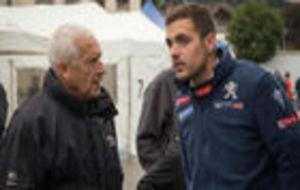 Efrén charlando con Antonio Zanini (campeón de Europa en el...