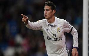 James celebra el gol conseguido ante la Cultural