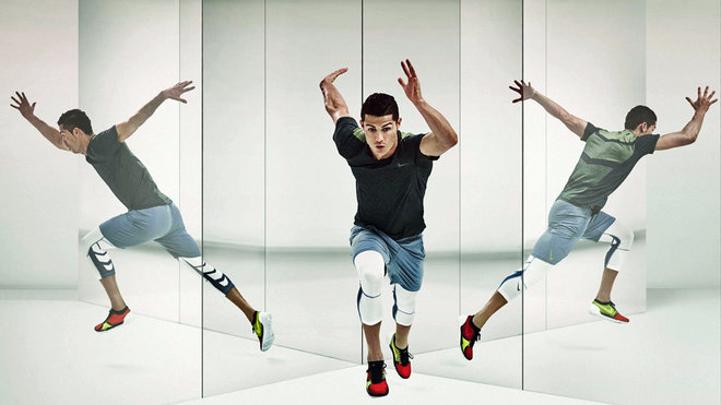 Ronaldo in a Nike advert