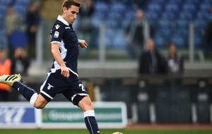 Lucas Biglia durante en encuentro con la Lazio