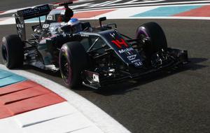 Alonso, durante el pasado GP de Abu Dabi.