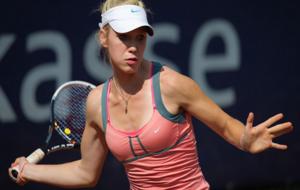 Katharina Hobgarski durante un partido esta temporada.