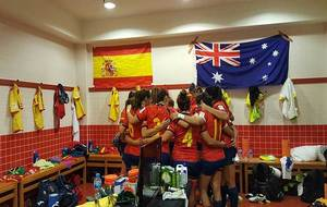 Las jugadoras españolas, en el vestuario